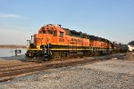 BNSF 2889 Works Louisiana Mo with the 836 local.