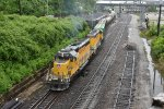 UP 1764 Drags a transfer through the West bottoms of Kc Mo.