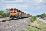 BNSF 5845 Drags a loaded coal down the Up Springfield Sub.