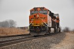 BNSF 3785 Works Dpu on a eastbound stack.