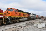 BNSF 749 and others sit in storage.