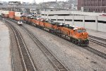 BNSF 7022 leads a eastbound stack train on the Kct.