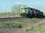BNSF 9293 SD60M leading coal drag