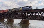 EDRJ westbound across the Hudson River Bridge