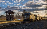 NS 2621 leads intermodal train 22K past the old signal tower at Johnsonville