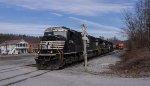 NS 2798 sets off two Pan Am locomotives at the Battenkill Railroad interchange yard
