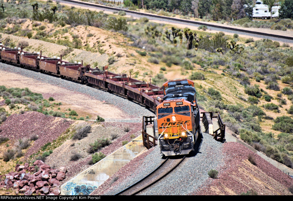 BNSF 4263 Over the Frost Flyover