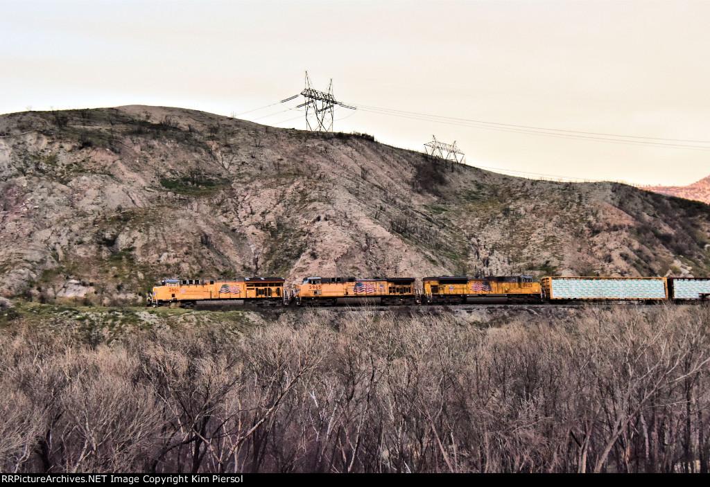 UP 2661 SB on the Old SP Line Through Cajon Pass