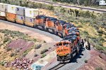 BNSF 9172 leads 6 Others Over the Frost Flyover