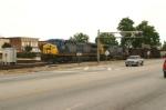 CSX 333 Races Pick Up Truck Through Town