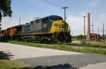 CSX 430 Passes Old Factory