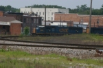 CSX 4808 Runs Through Town
