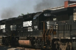 NS 7100 Caught In A Locomotive Sandwich
