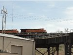 BNSF 3843 Trailing On The High Line At Santa Fe Junction