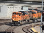 BNSF 9106 Heading A Train Into Union Station