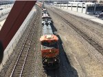 BNSF 7631 Leading An Intermodal At Union Station
