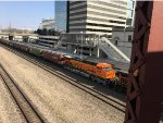 BNSF 4799 Recently Repainted, Trailing On A Mixed Freight At Union Station
