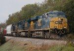 CSX ES40DC 5355, AC44CW 437, and C40-8W 7777