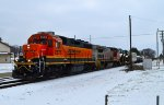 BNSF 2576 and 555