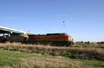 Loaded DEEX train heads east