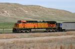 BNSF 5634 is shoving from the other end