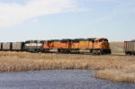 BNSF 9917 and MAC's creeping up to stop