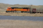 BNSF 9985 across the lake