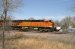 BNSF 5745 is parked in the parade