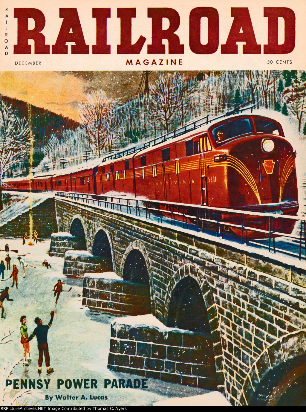 """""""Pennsy Power Parade,"""" Front Cover, 1954"""