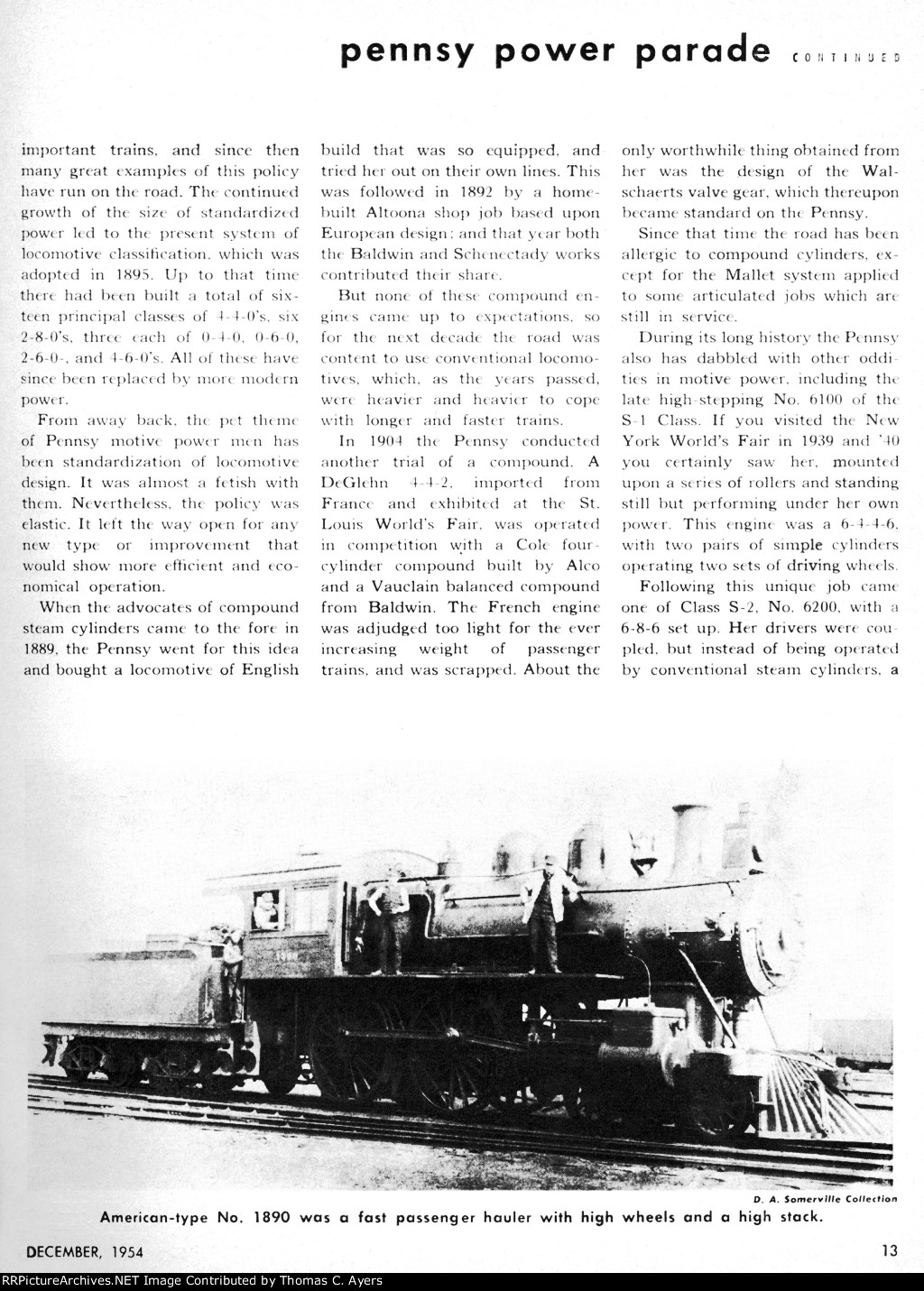 """Pennsy Power Parade,"" Page 13, 1954"
