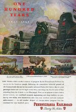 """""""Trains"""" Centennial Issue, Back Cover, 1946"""