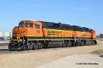 BNSF 119 & 155 (Upgraded to GP60M-3s) are tied down for the weekend at March Field, CA. 5/6/2018