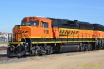 BNSF 119 now upgraded to a GP60M-3 at March Field, CA. 5/6/2018