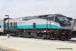 SCAX 907 (EMD F125) at the new Metrolink facility at Perris CA. 5/6/2018
