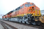 BNSF 3732 close Up with Her Sister ET44C4'S BNSF 3740 and BNSF 3739 Pulling the SLAJ-LPC to Logistic Park Chicago.