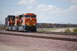 BNSF 3739, BNSF 3740, and BNSF 3732 Make the cornerand Head eastbound towards BNSF Needles as they put the throttle into Run 8.