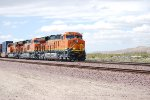 Up Close Shot of the 3 Tier 4 Locomotives Leading The SLAJ-LPC BNSF 3739, BNSF 3740, and BNSF 3732 as they Head eastbound towards BNSF Needles California.
