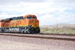 BNSF 3739 Up Close and the Nose of BNSF 3740 as they Pull the SLAJ-LPC Train Towards BNSF Needles California.