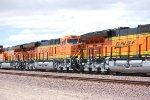 BNSF 3740 and the rear end of BNSF 3739 Lead Locomotive and the rear end of the # 3 unit BNSF 3732 as All 3 Tiier 4 Locomotives Pull the SLAJ-LPC.