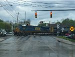 CSX 5332 east at Arlington St.