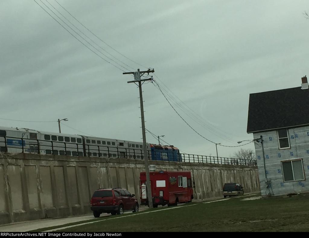 Metra Train at Rest