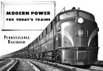 """Modern Power For Today's Trains,"" Front Cover, 1949"