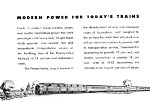 """Modern Power For Today's Trains,"" Page 2, 1949"