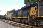 CSX ES44AH 3156 runs second
