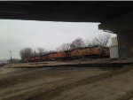 BNSF 6512 under IL Route 7.