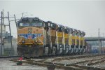 UP 5755 and 6 new SD70AH's