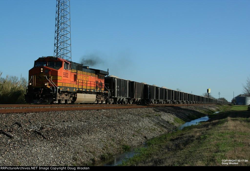 Loaded BNSF Rock Train