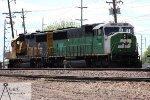 BNSF 1448 & 166