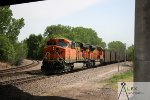 BNSF 9386 & 6164 as DPUs