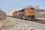BNSF 8011 Leads a eastbound Z train on the Transcon,
